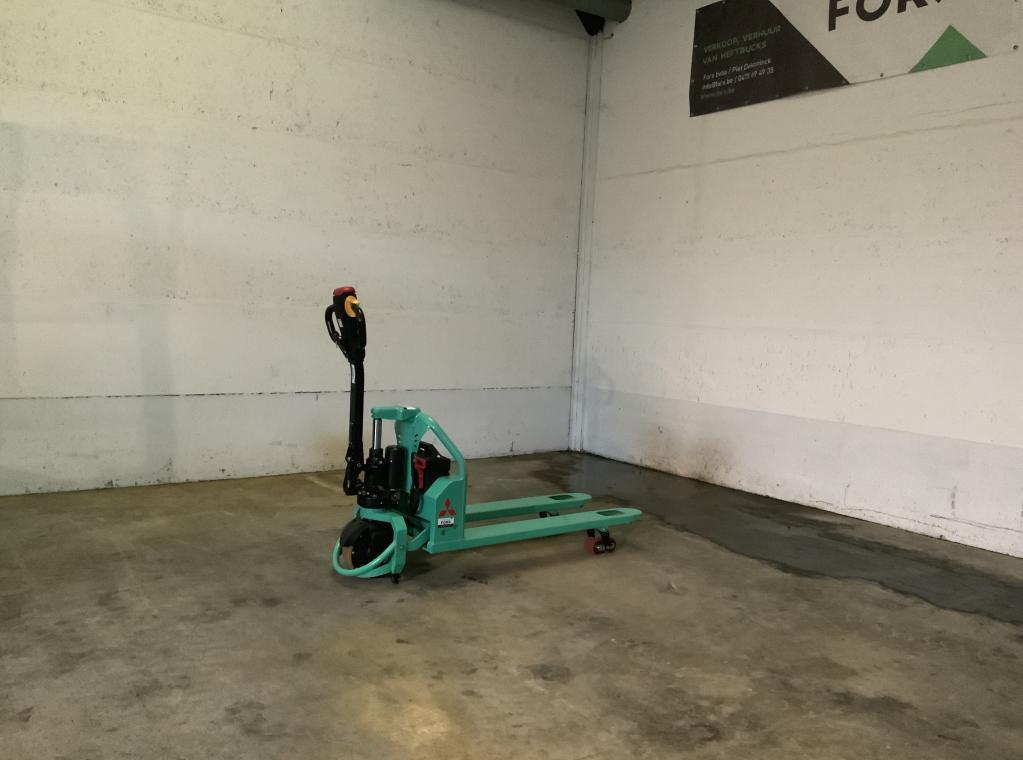 Mitsubishi elektrische heftruck 1,2 ton-2,5 ton West-Vlaanderen Torhout PBP16N2 premia ES PBPL12MPTP MBF 2500kg hefvermogen Tweedehands Heftruck te koop verkoop Forx Piet Dekoninck Milieu vriendelijk Forx specialist in heftrucks  Forx    Mitsubishi.                      Dumarent cebeko devako